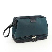 New Portable Men Makeup Bag Waterproof Leather Organizer Cos
