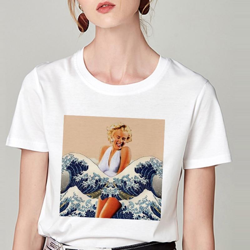 Summer Tshirt Snow White Fun Fashion Printed T-shirt Spoof Personality Harajuku Funny Casual Thin Section T Shirt Women Clothing 16