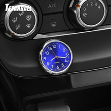 Car Ornament Creative Luminous Clock Thermometer Fashion Automobile Auto Interior Digital Pointer Watch Decoration Accessories
