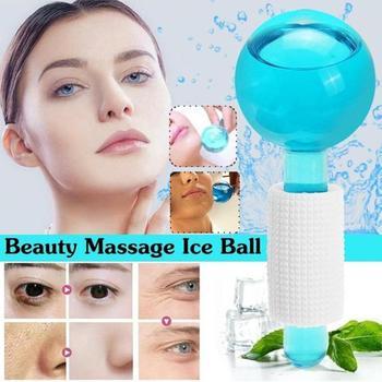 Piękno hokej na lodzie Crystal Ball chłodzenie twarzy na twarz i masaż oczu tanie i dobre opinie Małe Duża Masaż i relaks Szkło as shown
