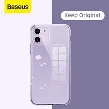 Baseus-funda de teléfono para iPhone 12, 11 Pro, Max, XR, XS, funda trasera, protección de lente completa para iPhone, funda suave transparente