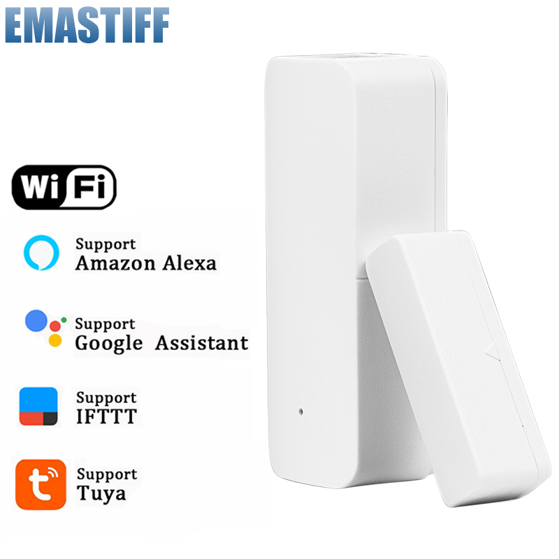 Notification Detectors Door-Sensor Security-Alarm Tuya Alert Alexa Wifi-App Smart-Wifi