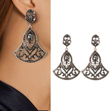 Kinel 2020 New Boho Ethnic Big Drop Earrings Antique Gold Color Beach Gray Crystal Bridal Earrings For Women Vintage Jewelry kinel 2020 new boho ethnic big drop earrings antique gold color beach gray crystal bridal earrings for women vintage jewelry