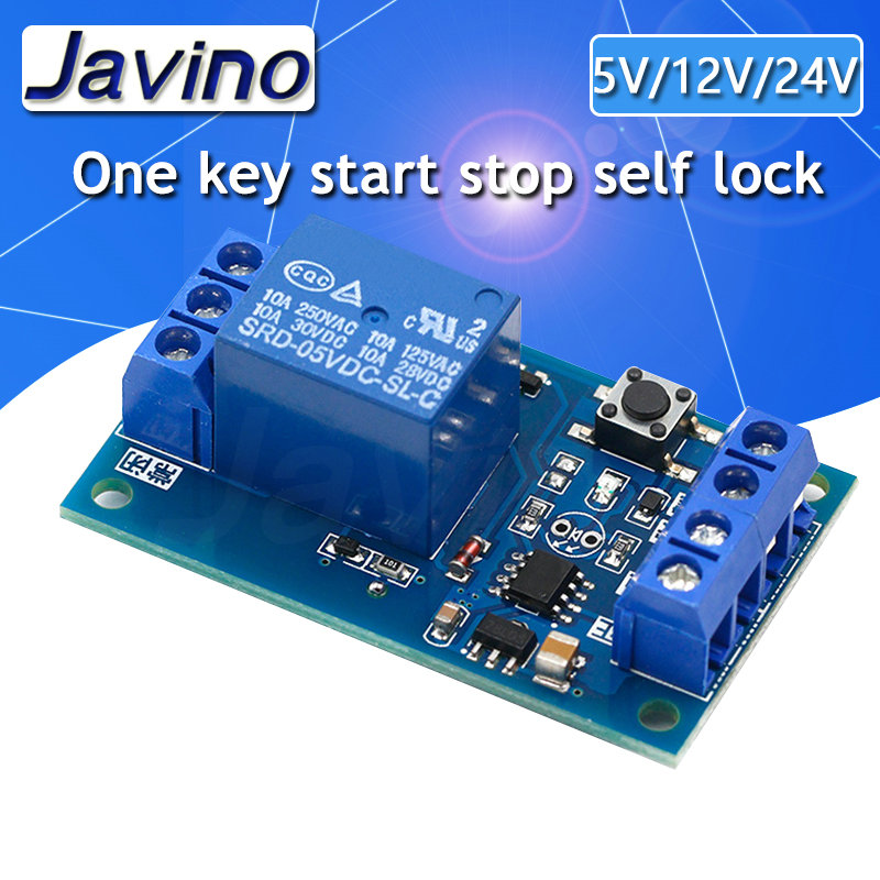 Single key bistable relay module automobile refit switch one key start stop self lock single chip microcomputer control 51 Pakistan