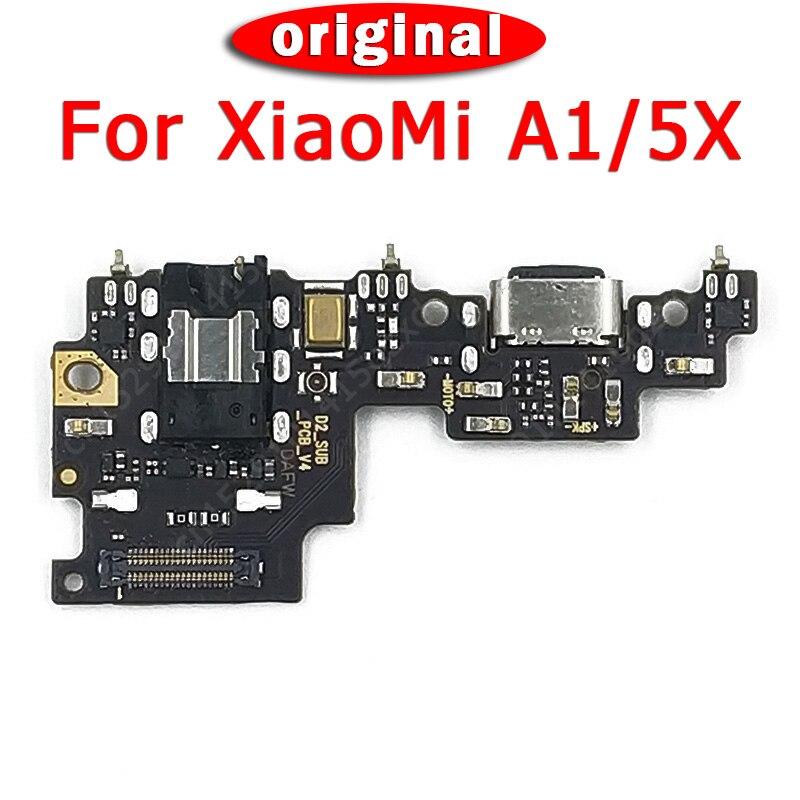 Original Charging Port PCB Board For Xiaomi Mi A1 Charger Board Dork Connector For Mi 5X USB Plug Flex Cable Spare Parts