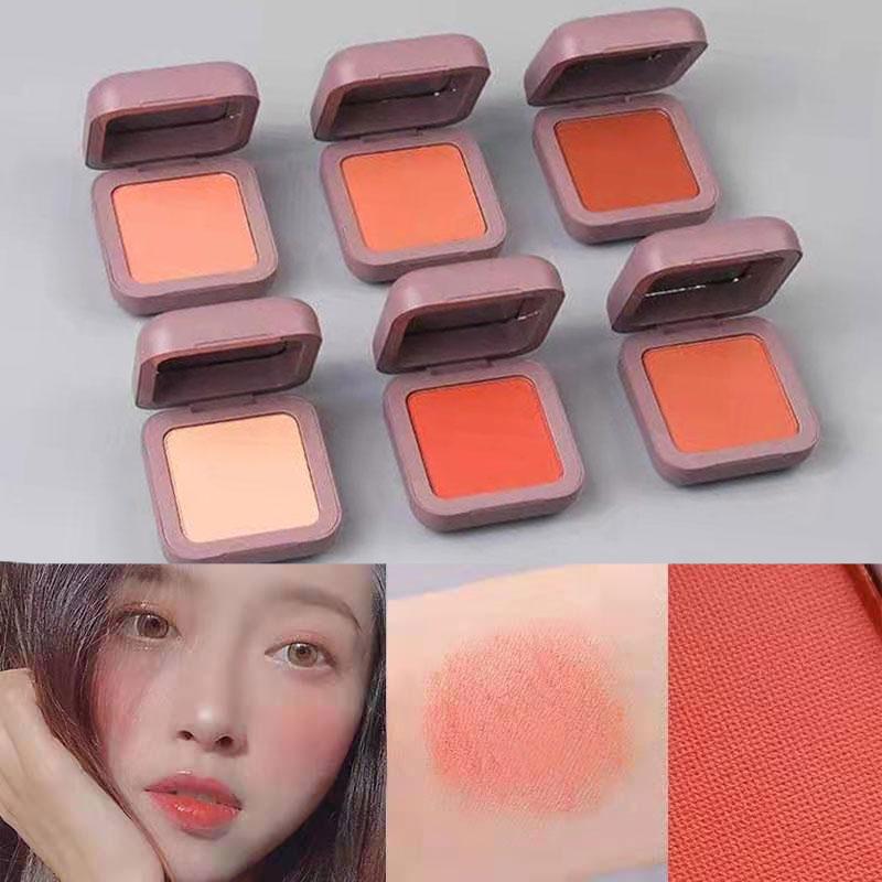 Caiji Blush Pallete Face Makeup Single Blusher Contour Peach Powder Long-lasting Natural Matte Blush Make Up Brighten Skin