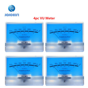 4pcs Classic McIntosh Lake Blue Figure VU Meter Head Table DB Table Audio Power Amplifier With Backlight