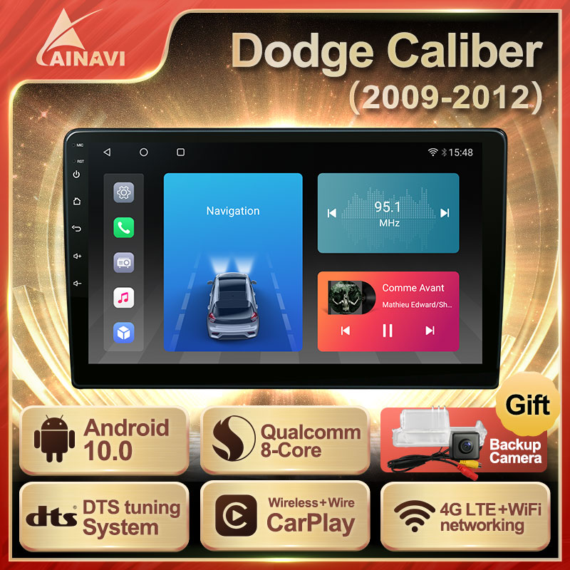 Автомобильный радиоприемник Android 10,0 QLED экран для Dodge Caliber 2009-2012 автомобильный стерео Мультимедийный Плеер навигация головное устройство Navi ...