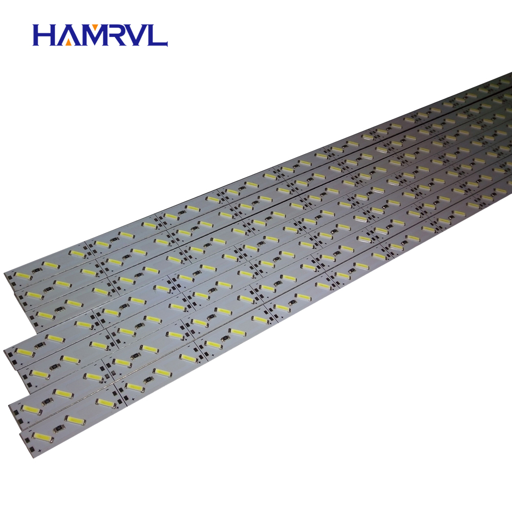 10pcs/Lot leds 0.5m LED bar light smd 5050 5630 7020 8520 4014 12V led rigid strip white warm cold RGB under cabinet kitchen