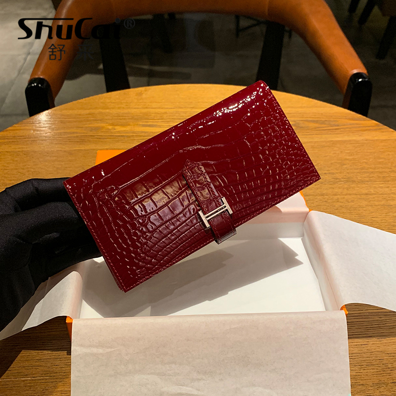 Fashion Genuine Leather Wallets Women's Wallet Long Coin Purse Ladies Solid Hasp Leather Wallet Female Clutch Card Holder Wallet
