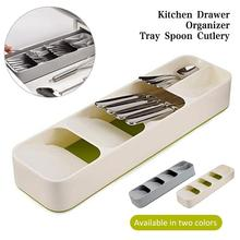 цены Kitchen Drawer Cutlery Organizer Tray Spoon Knife Fork Cutlery Separation Finishing Storage Box Kitchen Accessories Tool