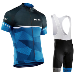 Summer 2019 NW Cycling Jersey 9D Bib Set MTB Northwave Bicycle Clothing Quick Dry Bike Wear Clothes Mens Short Maillot Culotte