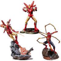Juguetes populares Marvel Avengers Super héroe Spiderman figuras de acción PVC Spider Man figura coleccionable modelo juguetes 25cm