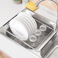 Stainless Steel Vegatable Basin Storage Basket Sink Telescopic Fruit Vegetable Sink Drain Basket Home Kitchen Supplies|Racks & Holders| |  -