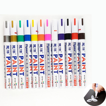 Waterproof Colorful Pen Car Tyre Tire Tread CD Metal Permanent Paint Markers Graffiti Oily Marker Pen Marcador Caneta Stationery