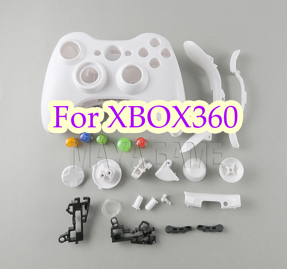 OCGAME Repair Parts Game Console Housing Case Shell With Full Buttons Accesories Kits For Xbox 360 Xbox360 Wireless Controller