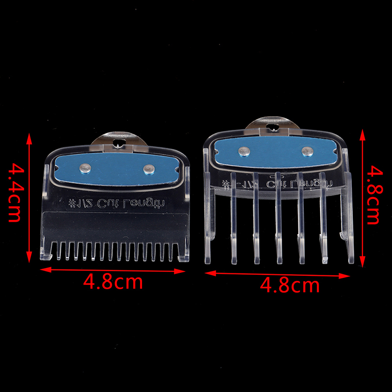 2PCS Professional Cutting Guide Comb Hair Clipper Limit Comb With Metal Clip
