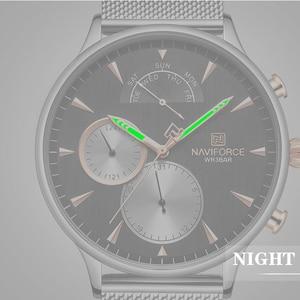 Image 2 - NAVIFORCE 男性腕時計トップブランドファッションビジネスメンズ腕時計ステンレス鋼メッシュ男性時計防水クォーツレロジオ Masculino