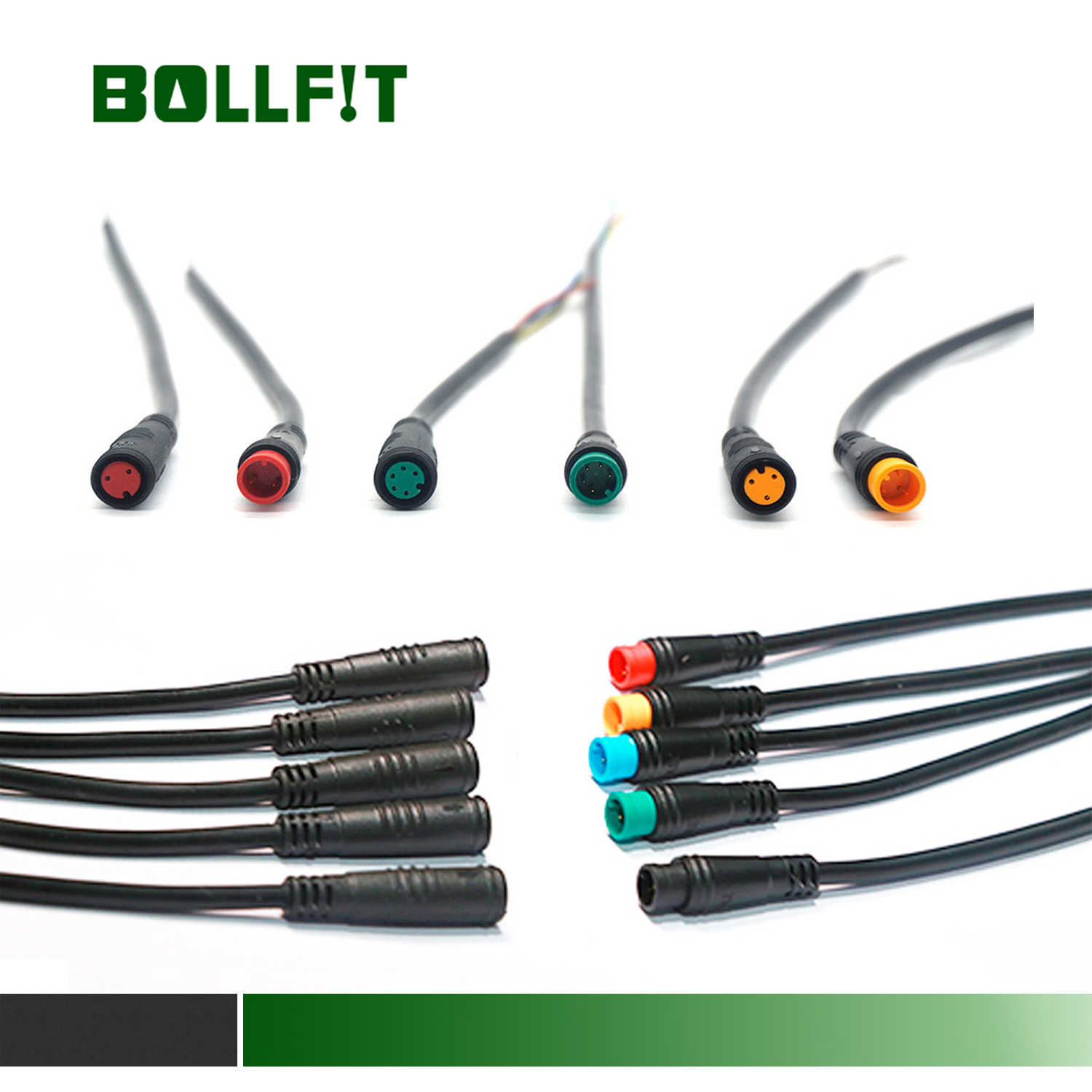 eBike 2 pin Headlight Extension Cable Waterproof Julet Type