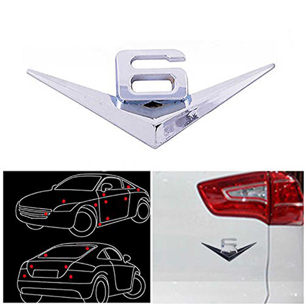 DSYCAR 3D Metal V6 motor ekran araba çıkartmaları amblem rozeti Jeep BMW Ford Lifan Nissan Mazda Audi Honda araba lada Chevrolet