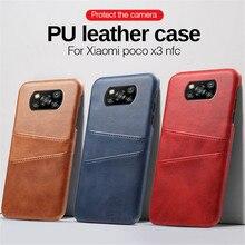 יוקרה עור כיסוי עבור Xiaomi Poco X3 פרו מקרה PocoX3 NFC X3Pro Pocophone קטן Poxo X 3 עמיד הלם ארנק כרטיס טלפון Coque