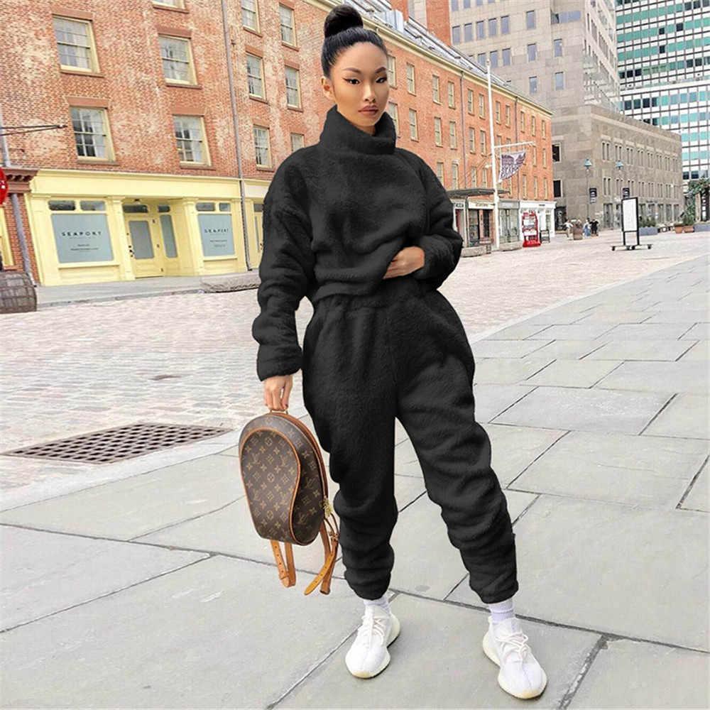 Nouveau Haut Câble Tricot Top Court Pantalon De Co-Ord 2 Pcs de détente Survêtement