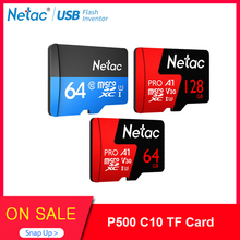 Netac-tarjeta Micro SD para teléfono inteligente, Clase 10, 32GB, 64 GB, 256 GB, 16GB, 128GB, 32GB, 64 GB, tarjeta de memoria Flash para almacenamiento de datos