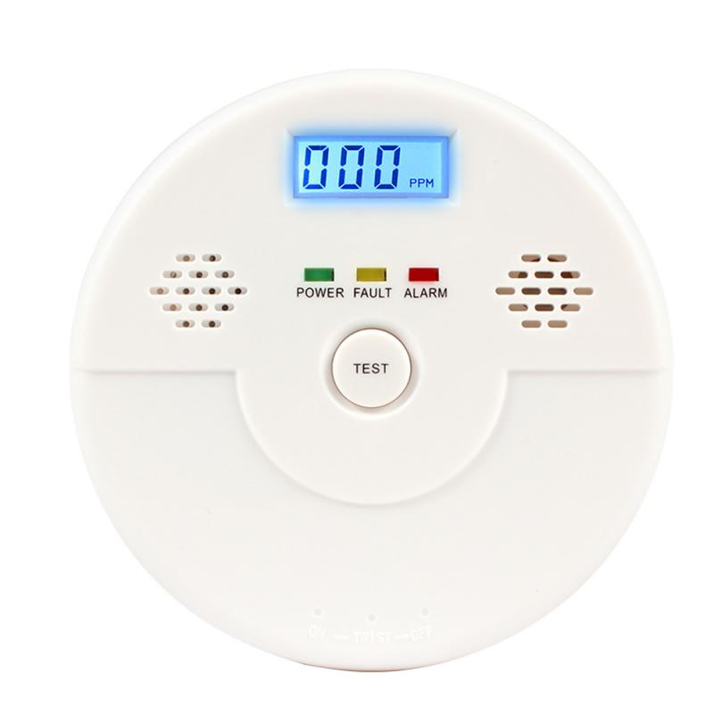 2019 New CO Carbon Monoxide Detector Fire Security Sensor Voice Alert Loud Alarm Home