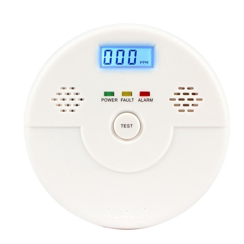 2019 New CO Carbon Monoxide Detector Fire Security Sensor Voice Alert Loud Alarm Home