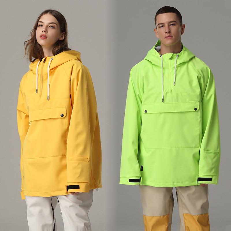 Лыжная куртка для мужчин и женщин, лыжная толстовка, ветрозащитный водонепроницаемый пуловер для катания на лыжах и сноуборде, куртка, мужс...