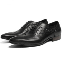 2019 Men Dress Shoes Genuine Leather Office Business Wedding Handmade Brogue Formal Ostrich Pattern Oxfords Mens Shoe цена 2017