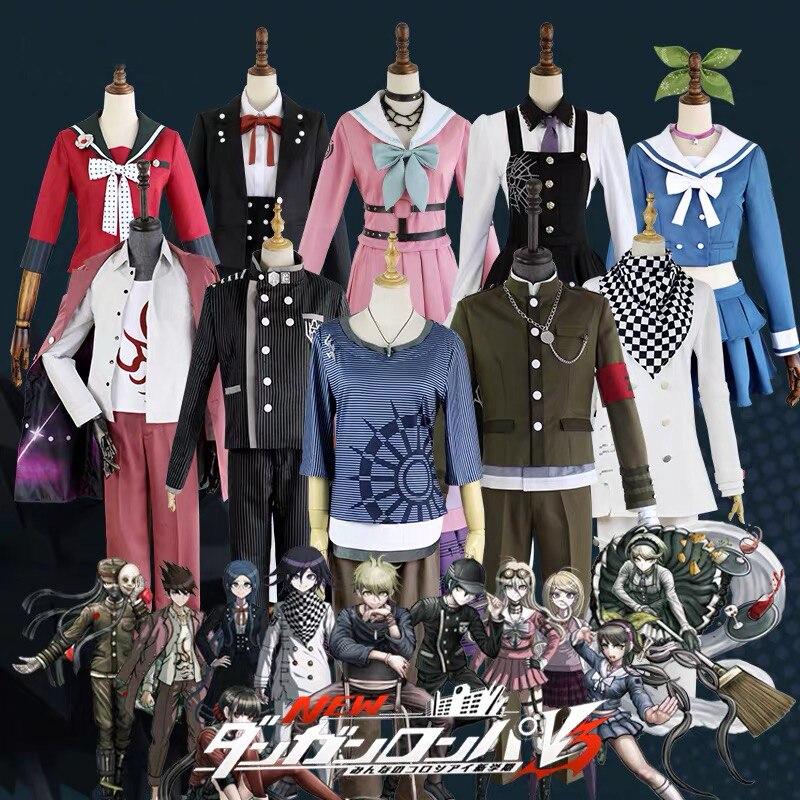 11 Roles Danganronpa V3 Killing Harmony Cosplay Costume Akamatsu Kaede Kaito Momota Iruma Miu Tojo Kirumi Ouma Uniform Halloween