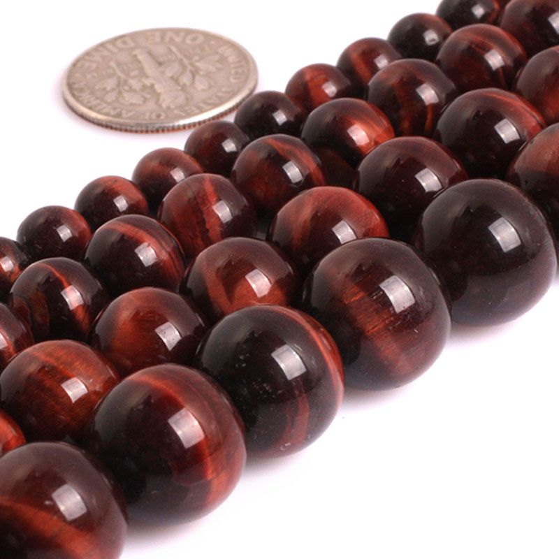 RUBYCA Natural  AAA Tiger-Eye Gemstone Round Loose Beads Jewelry Making 4mm-10mm