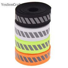 Chzimade fita refletora 2.2x500cm, acabamento de fita reflexiva para vestuário, laranja, cor preta, cinto, fita da tecido, decoração de casa faça você mesmo