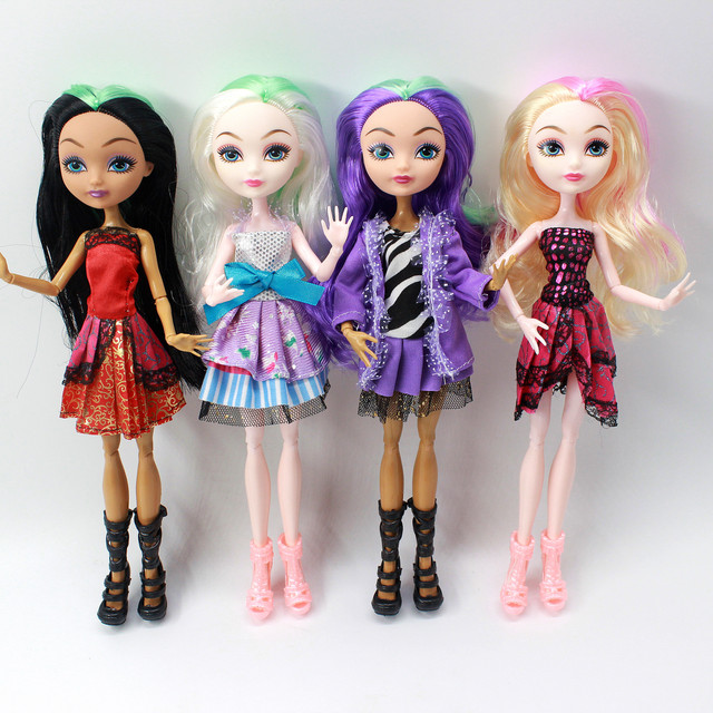 4 pcs/Set Dolls Ever After Doll Fashion Monster Doll High Quality Moving joint For BJD dolls reborn baby toys gift for girl