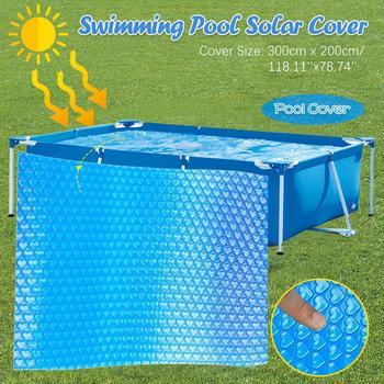 Nowe przykrycie na basen kwadratowy basen słoneczny wanna na zewnątrz akcesoria do baniek na zewnątrz pyłoszczelna wodoodporna przykrycie na basen tanie i dobre opinie 0615 Vinyl