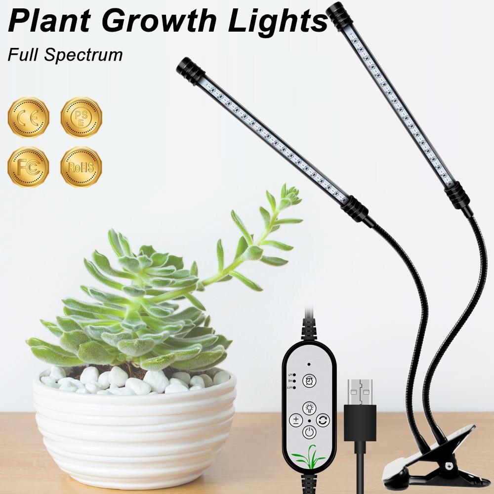 LED Grow Light Full Spectrum USB 5V Phyto Lamp Hydroponics With Clip For Vegetable Flower Seedings Greenhouse Plant Lighting