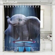 цена на Stunt Elephant Shower Curtain 3D Bathroom African Shower Curtain Bath Curtain Waterproof Fabric Modern Home Boho douchegordijn