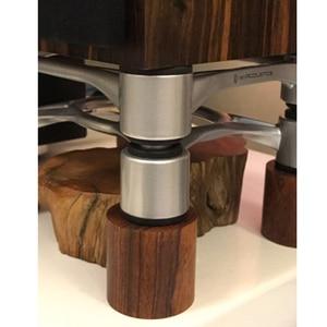 Image 5 - 4 pièces palissandre HiFi Audio haut parleurs amplificateur châssis Anti choc amortisseur pied pieds coussinets Absorption de vibrations supports 45*45mm