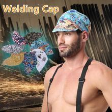 Эластичная сварочная шляпа 8 форм, Сварочная шляпа для поглощения пота, Сварочная Защитная шляпа, огнестойкая шляпа, шляпа с полной защитой