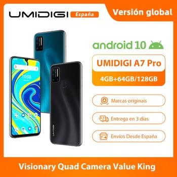 Перейти на Алиэкспресс и купить UMIDIGI A7 Pro Quad Camera Andriod 10 OS 6,3 дюймFHD + полный экран 64 Гб/128 ГБ ROM LPDDR4X Восьмиядерный процессор глобальная Версия Телефона