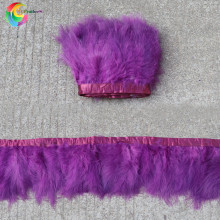 Paarsachtig Rood Marabou Feather Trim Fringe 6-8 Inches Veren Lint Trouwjurk Naaien Decoratieve Pluim(China)