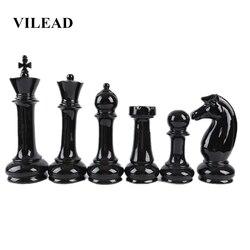 VILEAD Sechs-Stück Set Keramik Internationalen Schach Figuren Kreative Europäischen Handwerk Hause Dekoration Zubehör Handgemachte Ornament