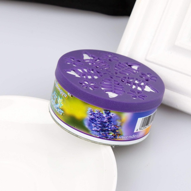 65g Scent Air Freshener Car Auto Decor Fruit Flower Indoor Home Bathroom Solid Ornament Decor Fragrance Diffuser Hot