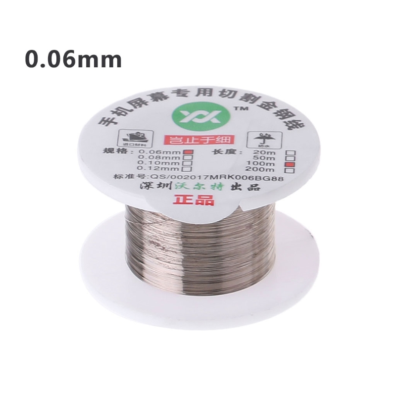 100m Alloy Gold Molybdenum Wire Cutting Line LCD Display Screen Separator Repair 40JE