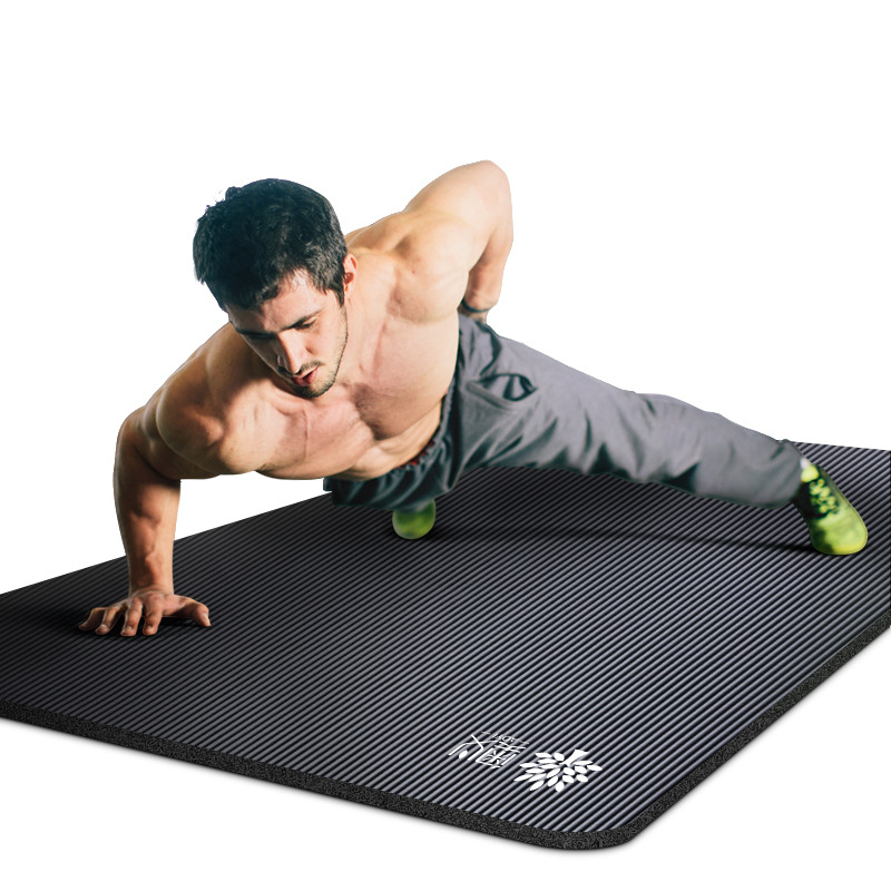 Men Gymnastic Mat Beginners Yoga Mat Thick Widened Lengthened Anti-slip Sports Yoga Mat Three-piece Set
