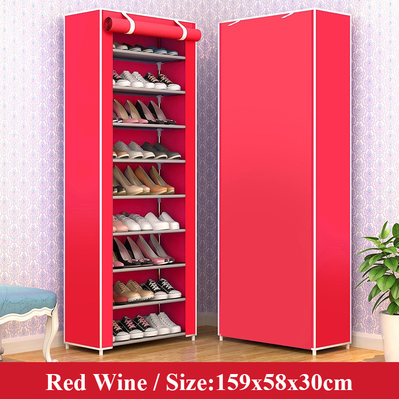 Multiple Layer Shoe Cabinet Nonwoven Fabric Saving Space Shoe Organizer Rack Modern Assemble Shoe Rack for Home Furniture
