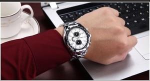 Image 5 - Erkek Kol Saati カレンブランドクォーツ時計男性ビジネス防水時計レロジオ Masculino カジュアル腕時計 Zegarek Meski