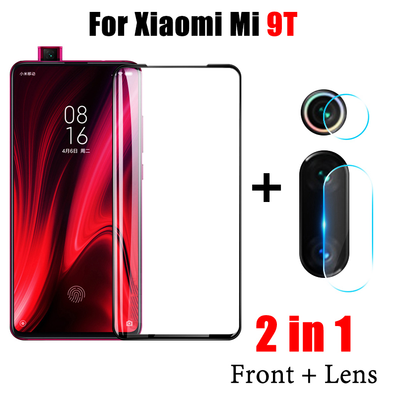 2 In 1 Mi9T Screen Protector On For Xiaomi Mi 9T 9 T Tempered Glass For Mi9 T Protective Glass Xiomi Xaomi Glas Camera Lens Film