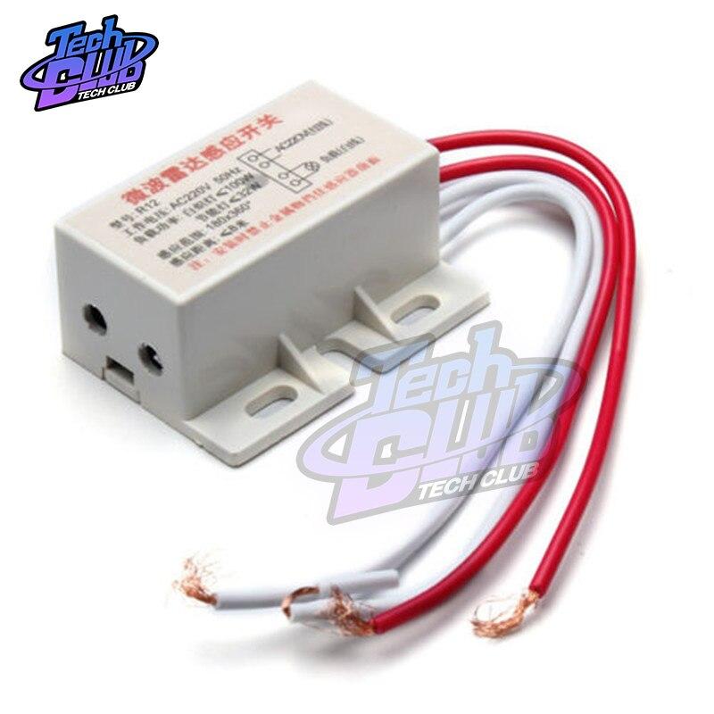 AC 220V PIR przełącznik czujnika ruchu moduł automatyczny czujnik ruchu na podczerwień czujnik mikrofalowy indukcja człowieka czujnik